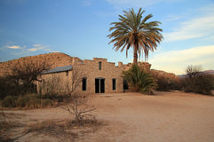 Abandoned Post Office. In the Hot Springs Section of Big Bend National Park, Texas Stock Photo