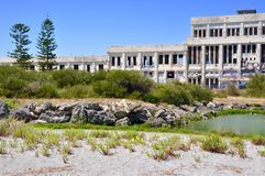 Abandoned Power House in Coastal Setting: Fremantle, Western Australia royalty free stock photos