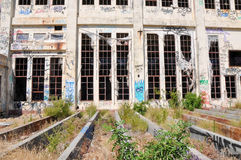 Abandoned Power House: Youth Vandalism Royalty Free Stock Photography