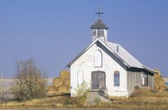 Abandoned prairie church near Badlands South Dakota Stock Photos