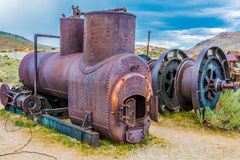 An Abandoned Prescott Scott Boiler at Bodie, Ca. Royalty Free Stock Photos