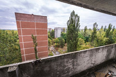Abandoned Pripyat city Stock Photo