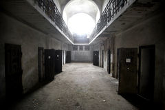 Abandoned prison Stock Photo