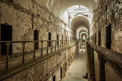 Abandoned prison. Royalty Free Stock Photo