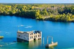 Abandoned prison. Rummu, Estonia Stock Images