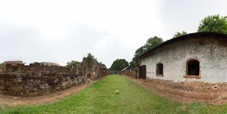 Abandoned Prison in Salvation& x27;s Islands, French Guiana. Panorama of an abandoned prision at Ile Royale, one of the islands of Iles du Salut & x28;Islands Royalty Free Stock Photos