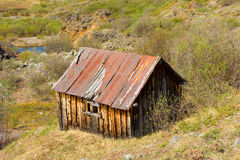 An abandoned prospectors cabin at otter creek, bc Stock Image