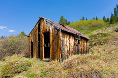 An abandoned prospectors cabin at otter creek, bc Royalty Free Stock Image