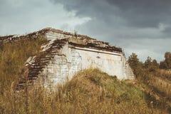Abandoned protective bunker Stock Image