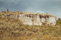 Abandoned protective bunker Stock Images