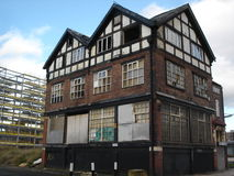 Abandoned Public House. A Derelict or Abandoned Public House in East Manchester Stock Photos