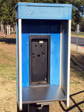 Abandoned public telephone booth Stock Photography