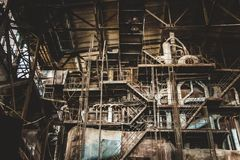 Abandoned pulp and paper mill Royalty Free Stock Photos