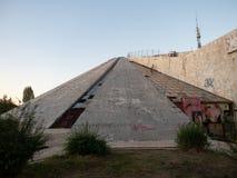 Abandoned Pyramid of Tirana, Formerly the Enver Hoxha Museum in Tirana Albania