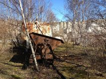 Abandoned in Quarry. Cart abandoned in Limhamn Limestone Quarry (south Sweden Royalty Free Stock Photos