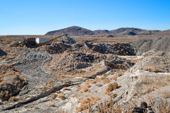 Abandoned quarry in the Nevada Desert Royalty Free Stock Photos