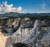 Abandoned quarry in Thailand. Abandoned quarry in Chonburi ,Thailand Stock Photos