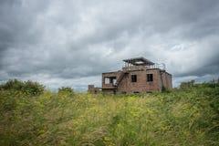 Abandoned RAF control tower, England Stock Photos