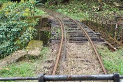 Free Abandoned Rail Bridge Used By A Homemade `ghost Train` That Run On Abandoned Railroad Tracks Stock Images - 107637514