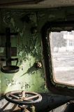 Abandoned rail-car cabin Royalty Free Stock Photography