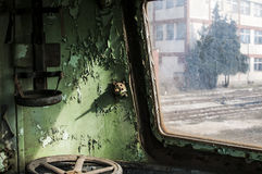 Abandoned rail-car cabin Stock Image