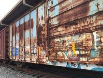 Abandoned rail cargo Stock Images