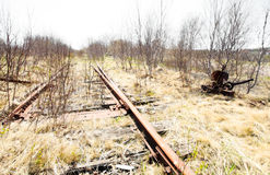 Abandoned rail line Royalty Free Stock Image