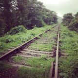 Abandoned rail road Stock Photo