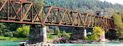 Abandoned Railroad Bridge Royalty Free Stock Images