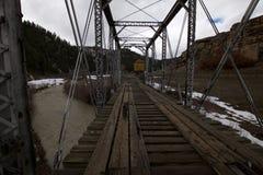 Abandoned Railroad Bridge stock photography