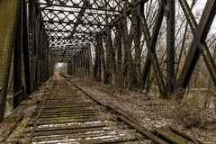 Free Abandoned Railroad Bridge - Pennsylvania Royalty Free Stock Images - 86130279