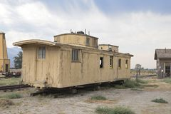 Abandoned Railroad Carriage in California Royalty Free Stock Image