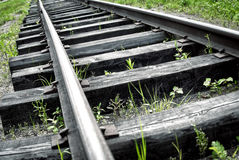 Abandoned railroad Stock Photo