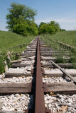 Abandoned Railroad Perspective Royalty Free Stock Photo