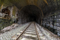 Abandoned Railroad Tunnel - Pennsylvania. A view of an abandoned railroad tunnel for the Baltimore and Ohio Railroad near Washington, Pennsylvania stock photo