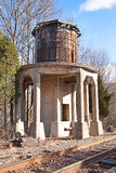 Abandoned Railroad Water Tower Stock Image