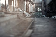 Abandoned railway stock photography