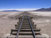 Abandoned railway, Bolivia. An abandoned railway track in Bolivia Stock Photo