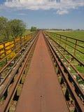 Abandoned railway bridge in the landscape of Mecklenburg-Western Pomerania, Germany.  Stock Images