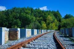 Abandoned Railway Bridge in the nature Stock Photography