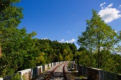 Abandoned Railway Bridge in the nature Royalty Free Stock Image