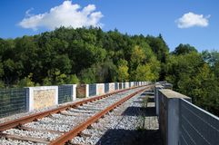 Abandoned Railway Bridge in the nature Stock Photos