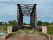 Abandoned railway bridge in Sisophon, Cambodia Stock Images