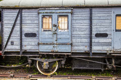 Abandoned railway carriage Stock Images