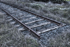Abandoned railway in Madrid, Spain. Abandoned dead end railway in Madrid, Spain Royalty Free Stock Photography