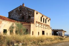 Abandoned railway station in Albacete. royalty free stock photo