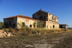 Abandoned railway station in Albacete. royalty free stock photos