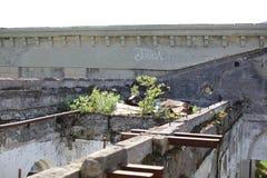 Abandoned railway station Stock Images