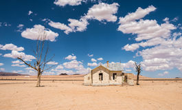 Abandoned railway station of Garub in the desert, Namibia Stock Photography