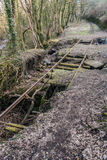 Abandoned Railway Tracks Stock Photo